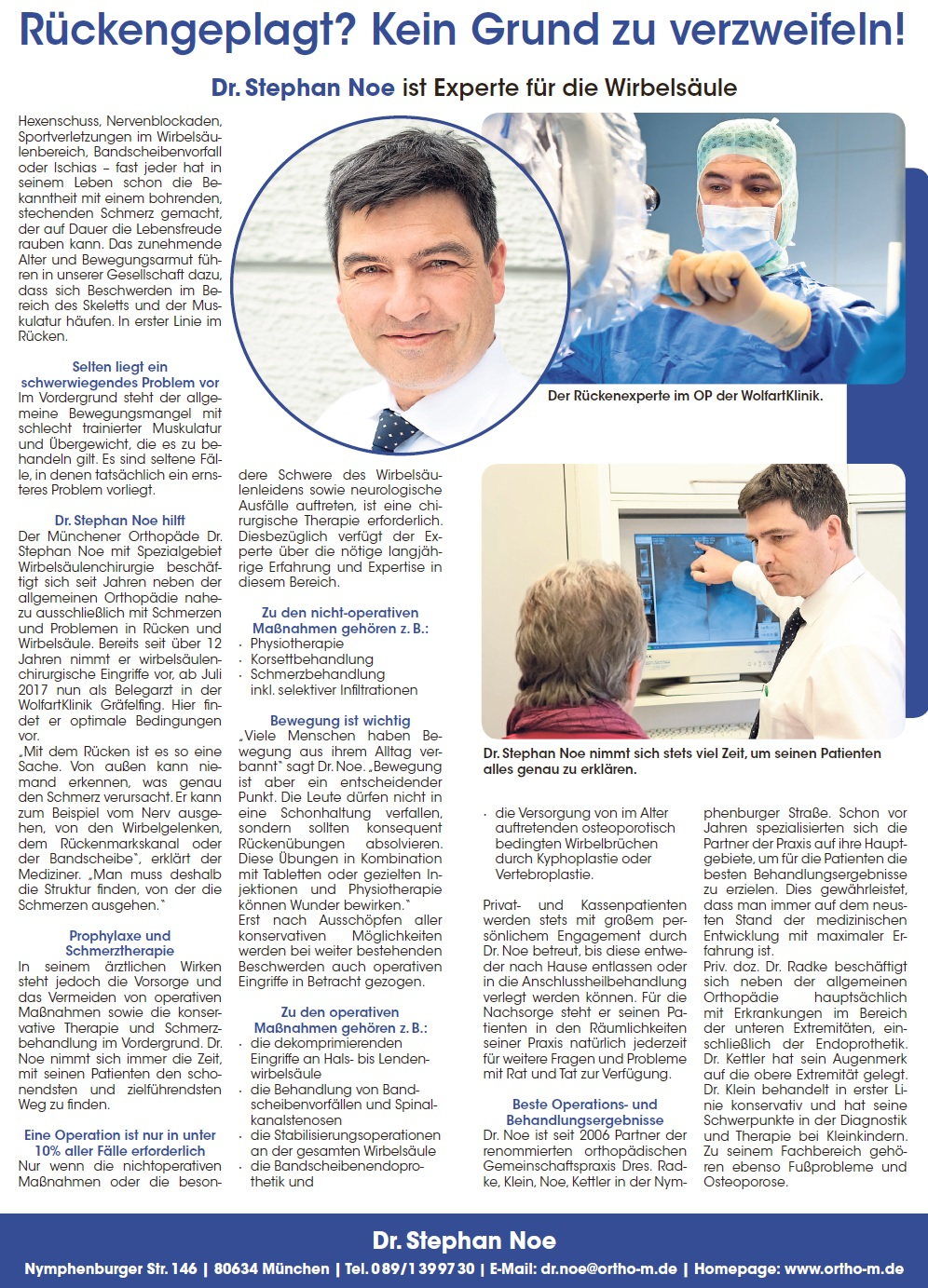 Pressebeitrag Dr Noe